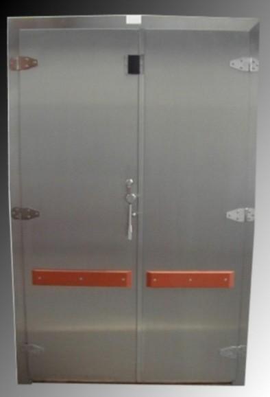 Dvoukřídlé chladírenské dveře vč.zárubně