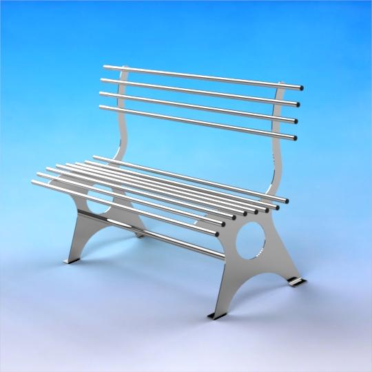 Nerezová lavička LA01